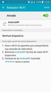 Samsung Galaxy J7 - Wi-Fi - Como usar seu aparelho como um roteador de rede wi-fi - Etapa 11