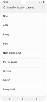 Samsung Galaxy A40 - Internet - configuration manuelle - Étape 12
