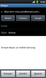 Samsung I9001 Galaxy S Plus - E-mail - envoyer un e-mail - Étape 6