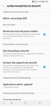 Samsung Galaxy A7 (2018) - Sécurité - modifier SIM PIN - Étape 6