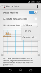 Sony D2203 Xperia E3 - Internet - Ver uso de datos - Paso 6
