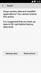 Huawei Ascend G6 - Device - Reset to factory settings - Step 8