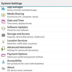 BlackBerry Passport - Network - Installing software updates - Step 5