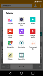 LG K10 4G - Mensajería - Escribir y enviar un mensaje multimedia - Paso 14