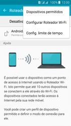 Samsung Galaxy J5 - Wi-Fi - Como usar seu aparelho como um roteador de rede wi-fi - Etapa 6