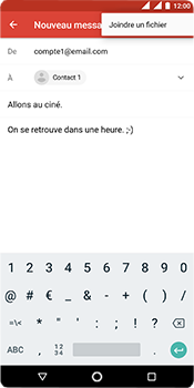Nokia 5.1 - E-mail - envoyer un e-mail - Étape 9