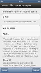 Apple iPhone 5 - Applications - Créer un compte - Étape 12