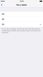 Apple iPhone 6s iOS 10 - Red - Seleccionar el tipo de red - Paso 7
