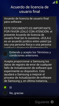 Samsung Galaxy Note 3 - Primeros pasos - Activar el equipo - Paso 6