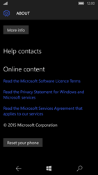 Microsoft Lumia 950 - Device - Reset to factory settings - Step 7
