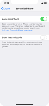 Apple iPhone X - iOS 12 - Beveiliging en privacy - zoek mijn iPhone activeren - Stap 12