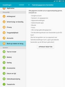 Samsung T815 Galaxy Tab S2 9.7 - Toestel - Fabrieksinstellingen terugzetten - Stap 7