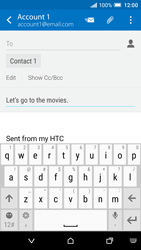 HTC One A9 - Email - Sending an email message - Step 9