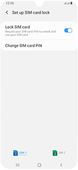 Samsung Galaxy A40 - Security - Set the PIN code for your SIM card - Step 7