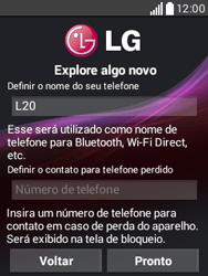 LG D100 L20 - Primeiros passos - Como ativar seu aparelho - Etapa 13