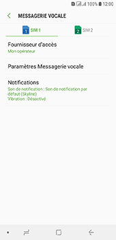 Samsung Galaxy A6 - Messagerie vocale - configuration manuelle - Étape 9