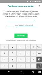 Sony Xperia X Dual SIM (F5122) - Aplicações - Como configurar o WhatsApp -  10