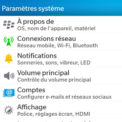 BlackBerry Q5 - Internet - configuration manuelle - Étape 5