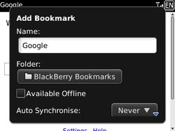 BlackBerry 9300 Curve 3G - Internet - Internet browsing - Step 6