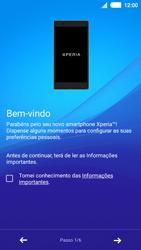 Sony Xperia M4 Aqua - Primeiros passos - Como ligar o telemóvel pela primeira vez -  5