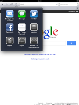 Apple iPad mini - Internet - Navigation sur Internet - Étape 5
