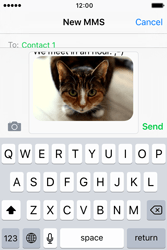 Apple iPhone 4 S iOS 9 - Mms - Sending a picture message - Step 12