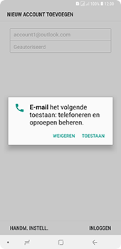 Samsung Galaxy A9 - E-mail - handmatig instellen (outlook) - Stap 11