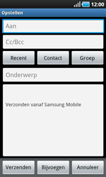 Samsung I9000 Galaxy S - E-mail - E-mails verzenden - Stap 5