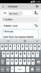 Huawei Ascend Y530 - E-mail - Sending emails - Step 9