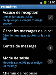 Samsung S5300 Galaxy Pocket - SMS - Configuration manuelle - Étape 4