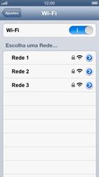 Apple iPhone iOS 6 - Wi-Fi - Como configurar uma rede wi fi - Etapa 5