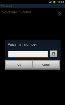 Samsung N7000 Galaxy Note - Voicemail - Manual configuration - Step 7