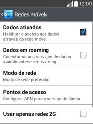 LG D100 L20 - Rede móvel - Como ativar e desativar uma rede de dados - Etapa 6
