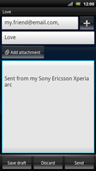 Sony Ericsson Xperia Arc S - Email - sending an email message - Step 9