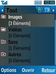 Samsung C3590 - Photos, vidéos, musique - Envoyer une photo via Bluetooth - Étape 4