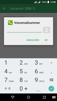 Acer Liquid Z630 - Voicemail - Handmatig instellen - Stap 10