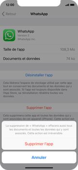 Apple iPhone XS - iOS 12 - Applications - Supprimer une application - Étape 7
