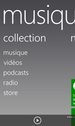 Nokia Lumia 925 - Photos, vidéos, musique - Ecouter de la musique - Étape 4
