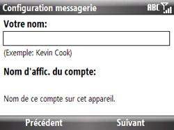 HTC S521 Snap - E-mail - Configuration manuelle - Étape 8