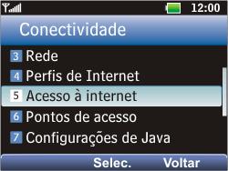 LG C365 - Internet - Como configurar seu celular para navegar através de Vivo Internet - Etapa 13