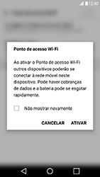 LG X Power - Wi-Fi - Como usar seu aparelho como um roteador de rede wi-fi - Etapa 9