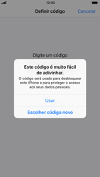 Apple iPhone 7 iOS 11 - Segurança - Como ativar o código de bloqueio do ecrã -  8