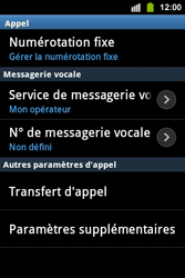 Samsung S5830i Galaxy Ace i - Messagerie vocale - configuration manuelle - Étape 6