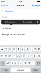 Apple iPhone 5c - E-mail - envoyer un e-mail - Étape 8