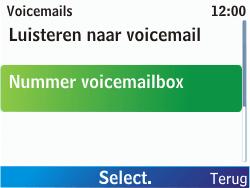 Nokia C3-00 - Voicemail - handmatig instellen - Stap 7