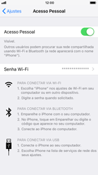 Apple iPhone 7 - iOS 12 - Wi-Fi - Como usar seu aparelho como um roteador de rede wi-fi - Etapa 8