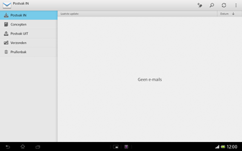 Sony SGP321 Xperia Tablet Z LTE - E-mail - Handmatig instellen - Stap 5