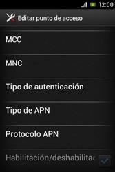 Sony Xperia E - Mensajería - Configurar el equipo para mensajes multimedia - Paso 13