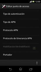 Sony Xperia L - Mensajería - Configurar el equipo para mensajes multimedia - Paso 15