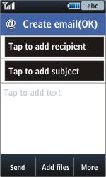 Samsung S5620 Monte - E-mail - Sending emails - Step 6